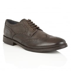 Merc Brown Leather Brogue Derby Shoe