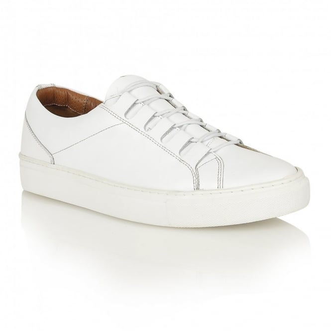 Frank Wright Mitch White Leather Ghilly Tie Sneaker