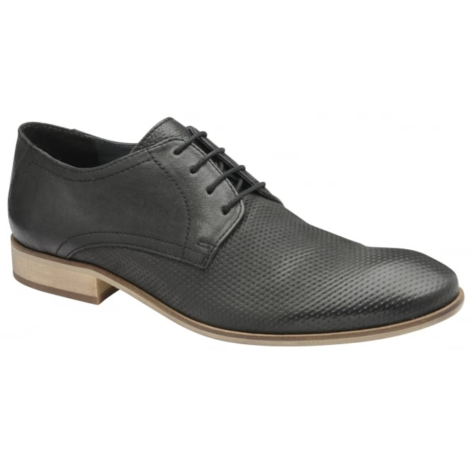Frank Wright Muddy Black Leather Derby Shoe
