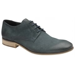 Muddy Navy Leather Derby Shoe