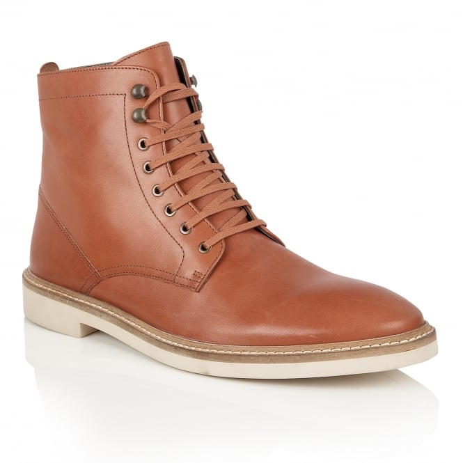 Frank Wright Munros Chestnut Leather Ankle Lace Up Boot