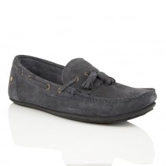 Nevis Navy Suede Loafer