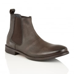 Omar Brown Leather Chelsea Boot
