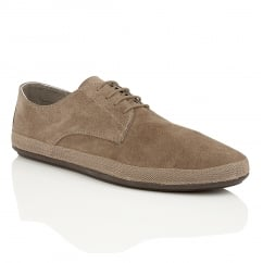 St Lucia Taupe Suede Espadrille