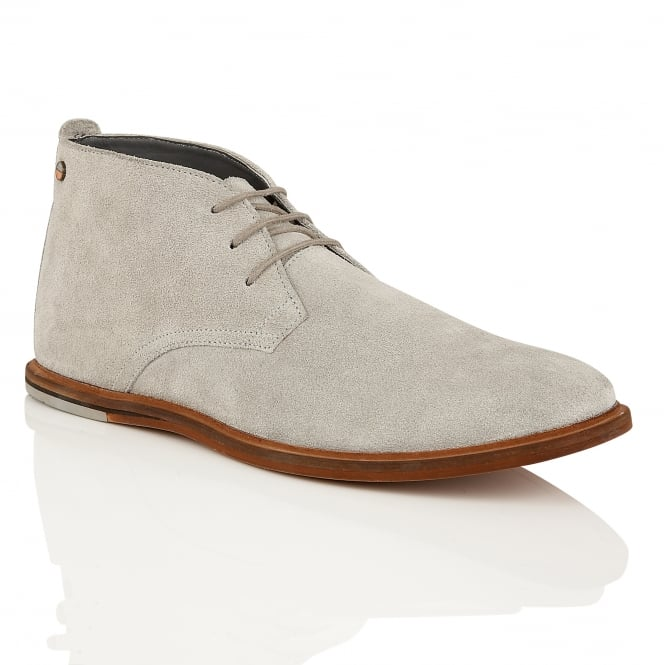 Frank Wright Strachan Grey Suede Lace-up Boot