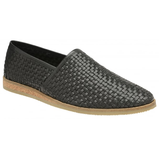Frank Wright Taxi Grey Leather Slip-on Shoe