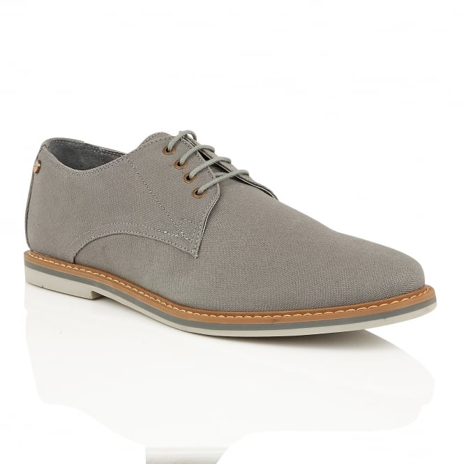 Frank Wright Telford Grey Canvas Derby Shoe