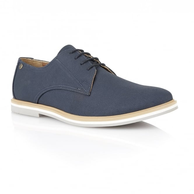 Frank Wright Telford Navy Canvas Derby Shoe