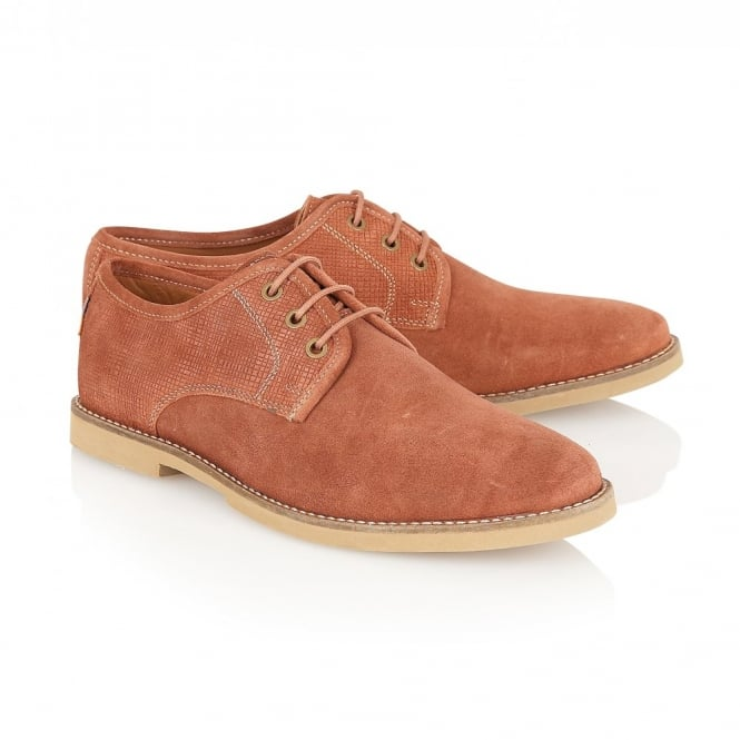 Frank Wright Thurrock Rust Suede Lace Up Shoe