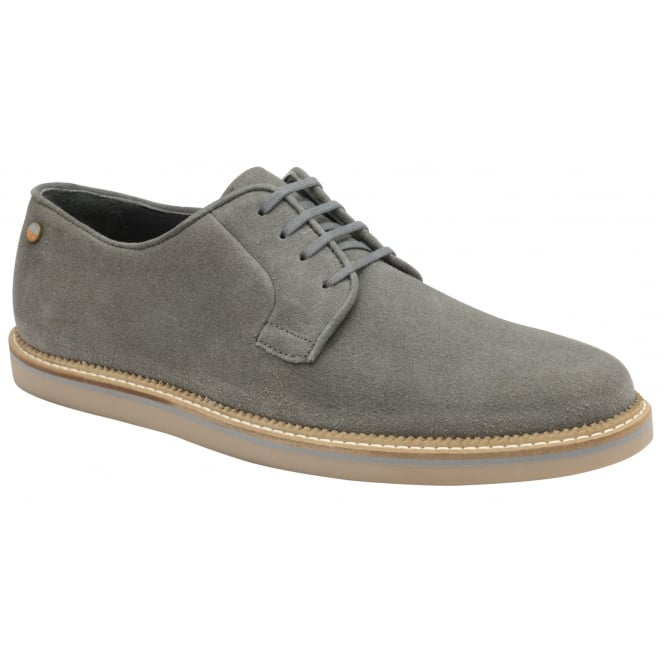 Frank Wright Turpin Grey Suede Lace-Up Shoe