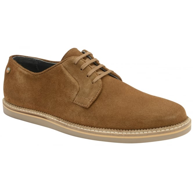 Frank Wright Turpin Tobacco Suede Lace-Up Shoe