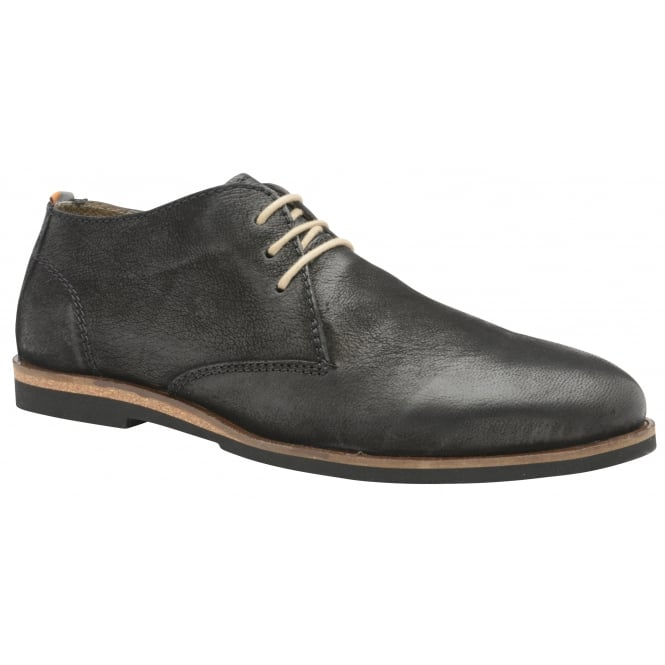 Frank Wright Van Black Matte Leather Lace-up Boot