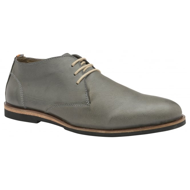 Frank Wright Van Grey Matte Leather Lace-up Boot