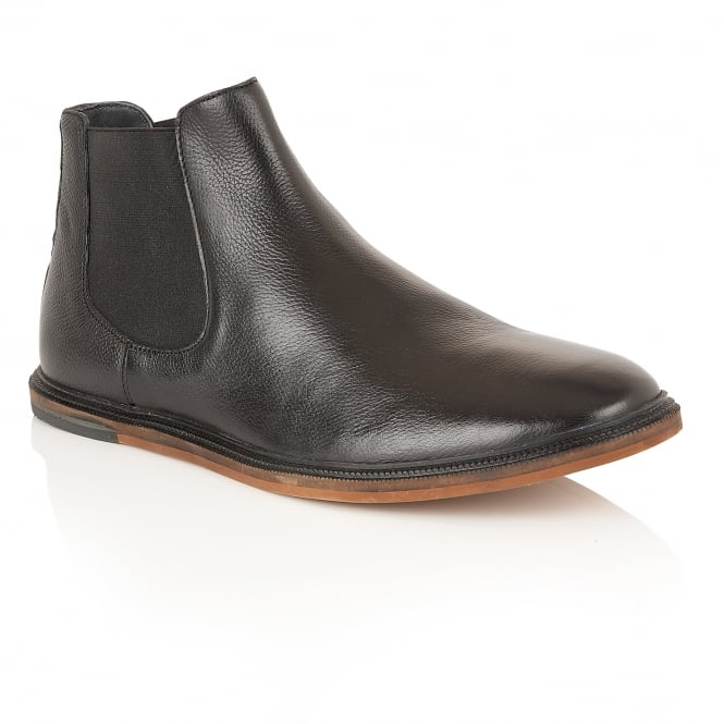 Frank Wright Vogts Black Leather Chelsea Boot