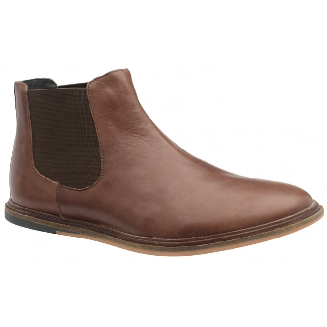 Frank Wright Vogts Brunette Leather Chelsea Boot