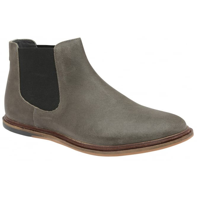 Frank Wright Vogts Grey Crackled Suede Chelsea Boot