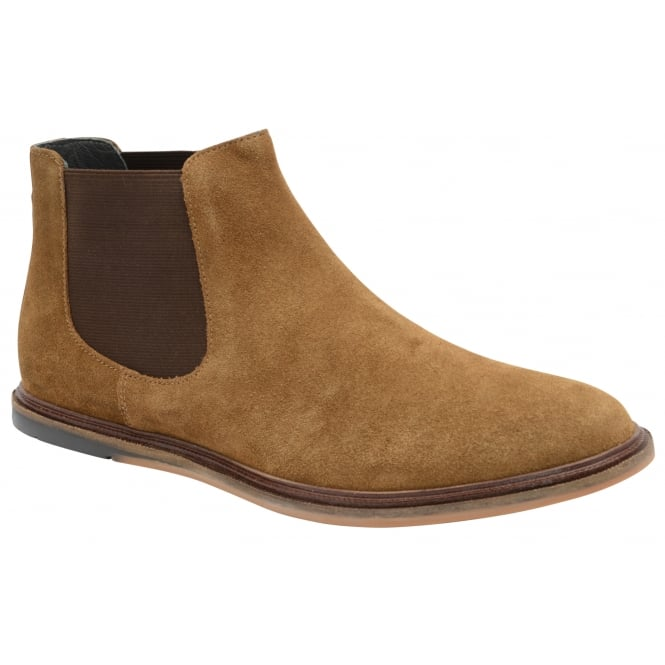 Frank Wright Vogts Tobacco Suede Chelsea Boot