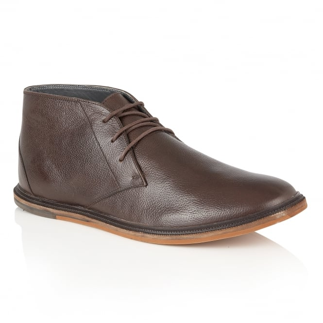 Frank Wright Walker Dark Brown Leather Lace-up Boot