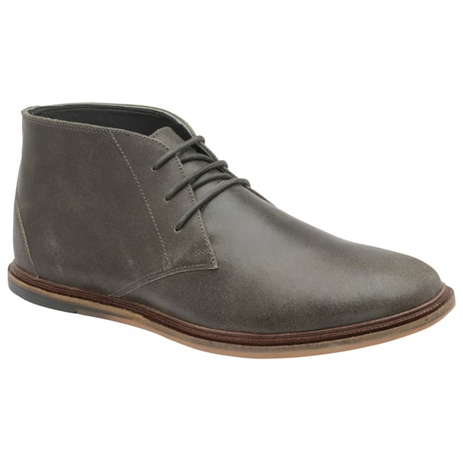 Frank Wright Walker Grey Crackled Suede Lace-up Boot