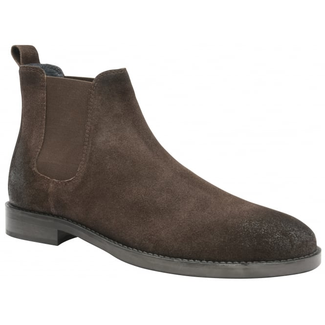 Frank Wright Wyatt brown oiled suede Chelsea boot