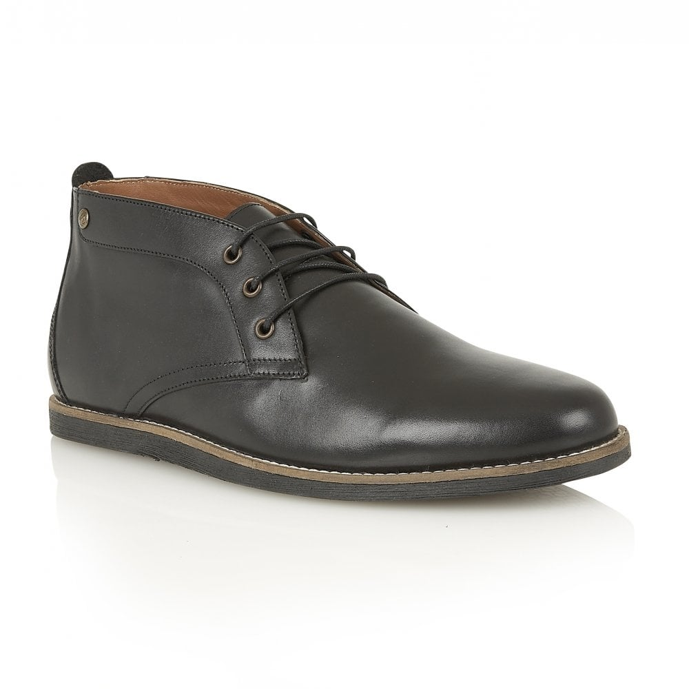 Buy men's Frank Wright Gee II Black Leather Chukka Boot online