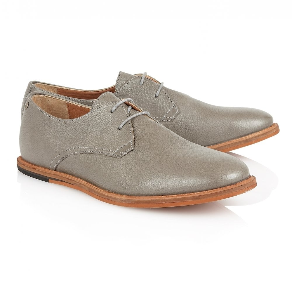 Grey Busby Leather Derby Shoe   Frank Wright