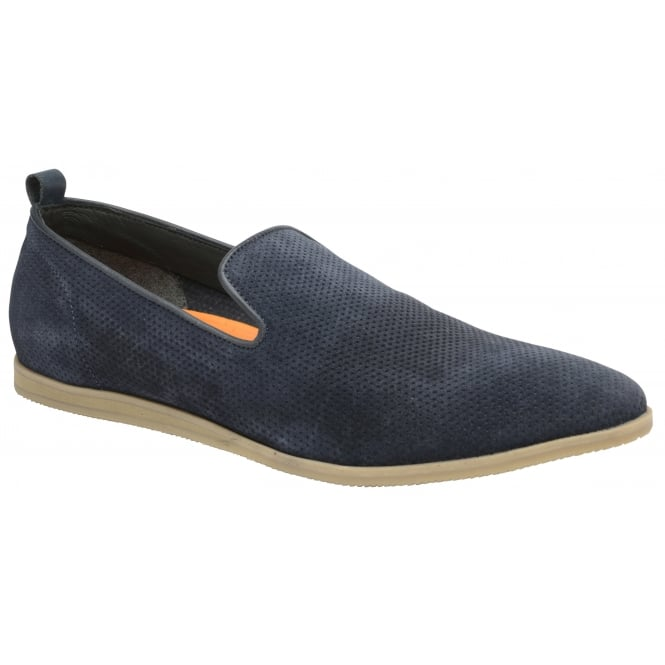 Navy Alfredo Suede Slip-on Shoe | Frank Wright