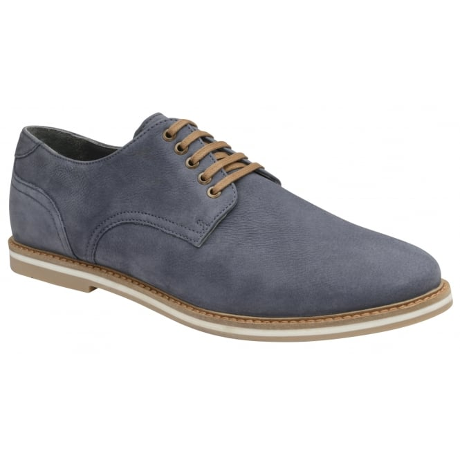 Navy Alton Leather Derby Shoe | Frank Wright