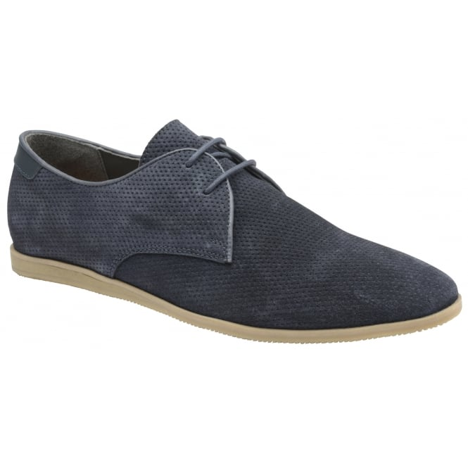 Navy Karl Suede Derby Shoe | Frank Wright