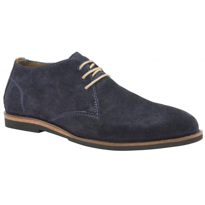 Navy Van Suede Derby Shoe | Frank Wright