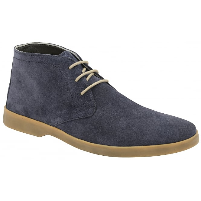 Navy Wentworth Suede Derby Boot | Frank Wright