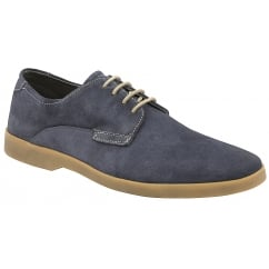 Navy Woburn Suede Derby Shoe | Frank Wright