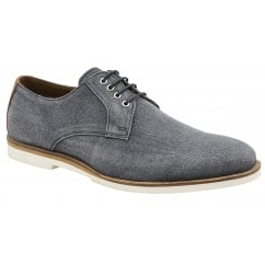 Navy Young Canvas Derby Shoe | Frank Wright