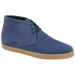 Ocean Blue Bronco Suede Derby Boot | Frank Wright