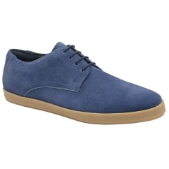 Ocean Blue Chiefs Suede Derby Trainer | Frank Wright