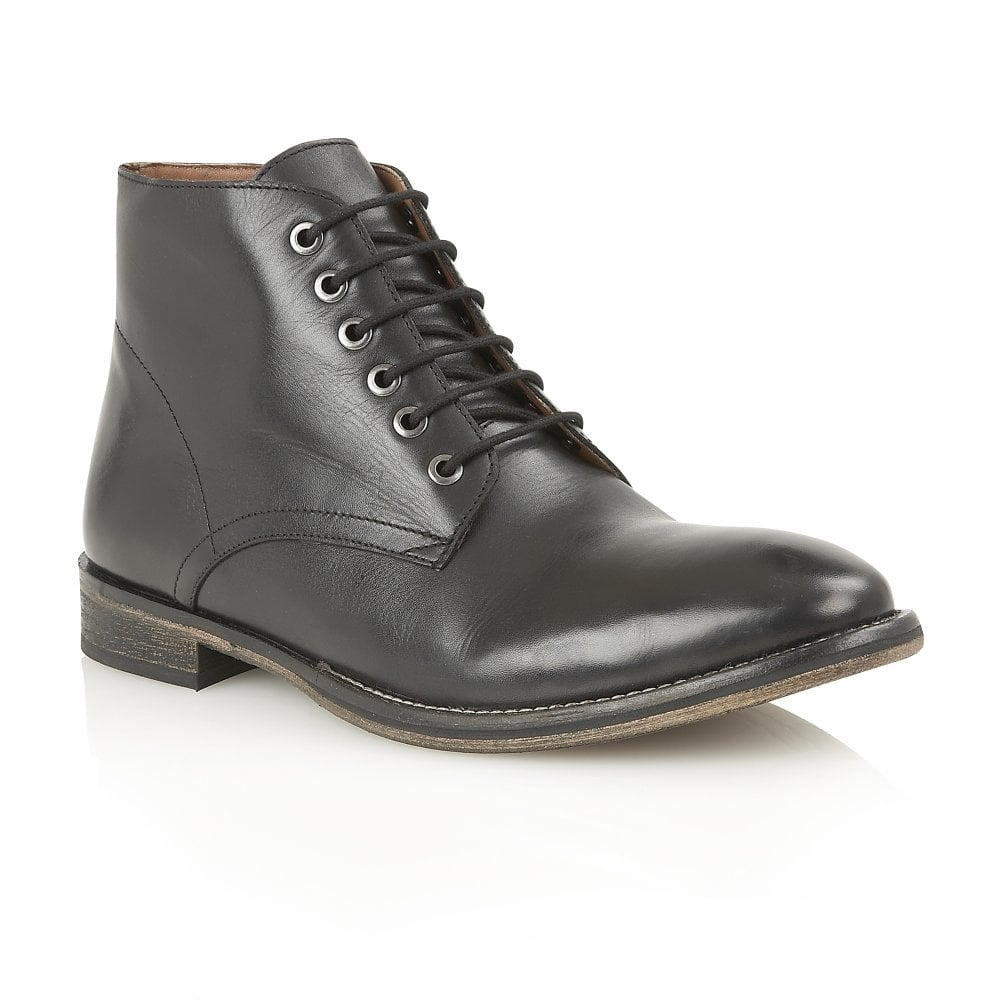 buy s frank wright oval black leather ankle lace up