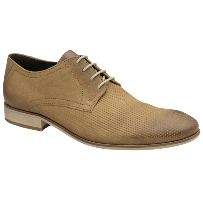 Sand Muddy Leather Derby Shoe | Frank Wright