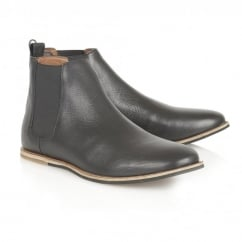 Stark Black Leather Chelsea Boot
