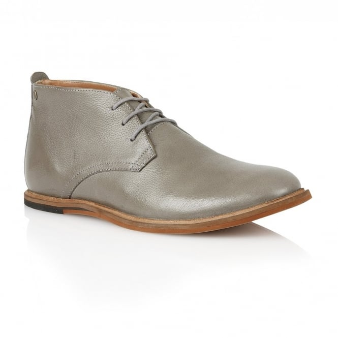 Frank Wright Strachan Grey Leather Lace-up Boot