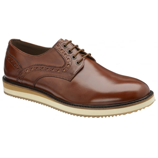 Tan Marvin Leather Brogue Shoe | Frank Wright