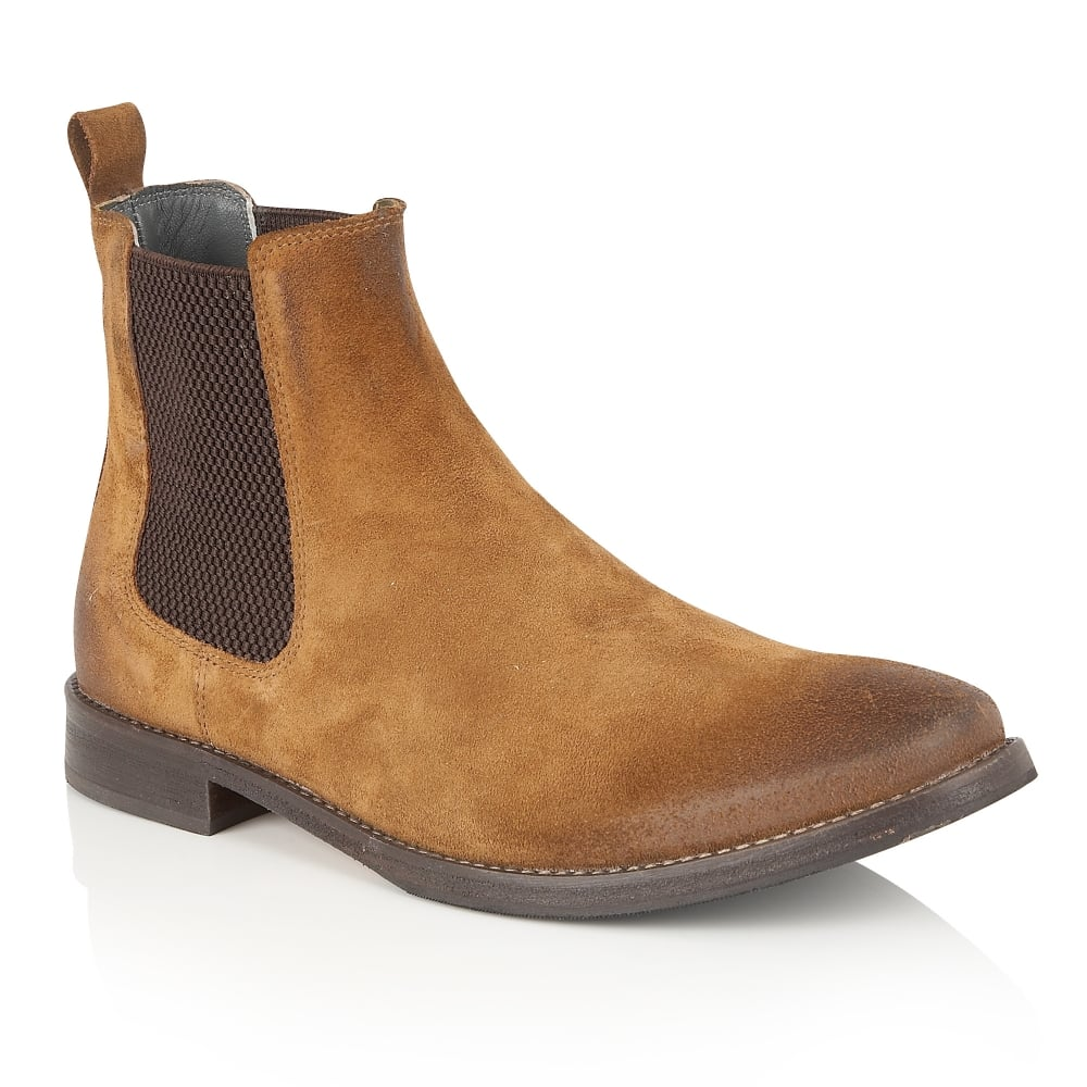 Buy Men S Frank Wright Omar Tan Suede Chelsea Bootonline