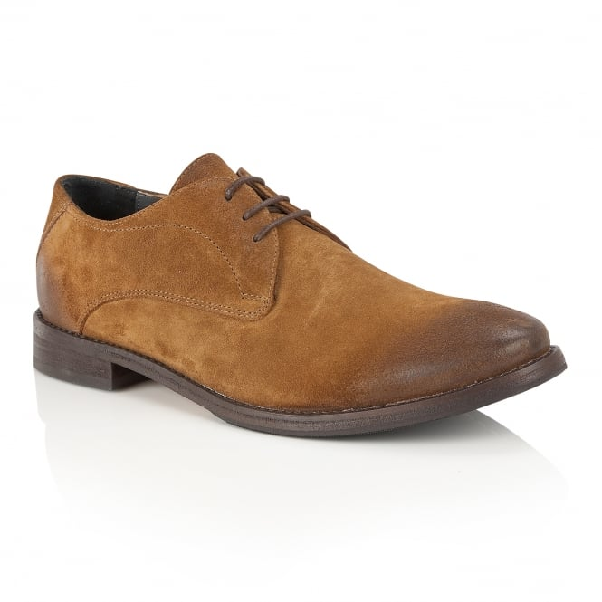 Tan Stringer Suede Derby Shoe | Frank Wright